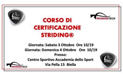 Corso di certificazione Nord Italia Ottobre 020